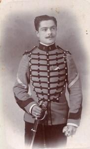 Dijon Homme en Uniforme Militaire Ancienne Photo CDV 1900