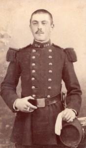 Nancy French Man in Military Uniform Old Odinot CDV Photo 1890