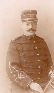 Le Havre French Man in Military Uniform Old Lamusse CDV Photo 1900