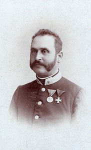 Gyulafehérvár Man Military Uniform Medals Alba Iulia Bach Karoly CDV Photo 1900