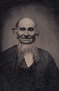 USA? Portrait Vieil Homme Collier de Barbe Ancien Ferrotype Tintype Photo 1880's