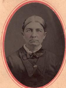 USA ? Portrait Femme Ancien Ferrotype Tintype Photo 1880's