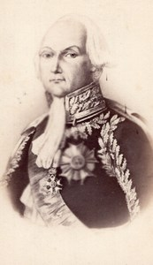 François Christophe de Kellermann Duc de Valmy Marechal d'Empire CDV Photo 1870