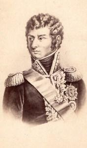 Charles XIV Jean Bernadotte Prince de Ponte-Corvo Marechal Empire CDV Photo 1870