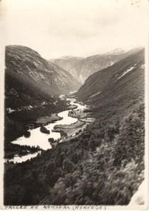 Romsdal Valley, Norway river Rauma old Photo 1930's
