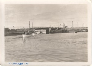 Trondheim Harbour Boat Norway old Photo 1930's