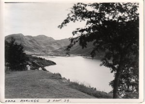 Norway Village Fjord Lake General View old Photo 1939