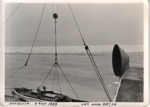 Arctic Ocean Ice Barrier from Ship old Photo 1939