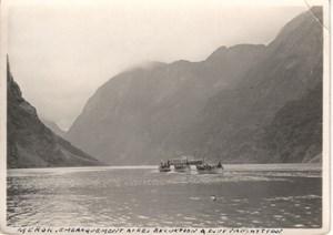 Ocean Liner Cruise Djupvasshytta Fjord old Photo 1930's