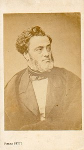 Jules Favre, french politician old Pierre Petit CDV Photo 1860