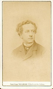 Jean Baptiste Prosper Bressant, French Stage Actor old Mulnier CDV Photo 1870