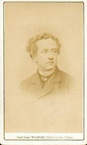 Jean Baptiste Prosper Bressant, French Stage Actor old Mulnier CDV Photo 1870