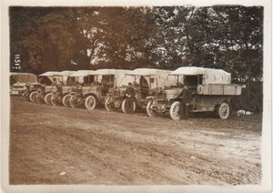 Many Workshop Trucks Military Aviation old Photo 1913