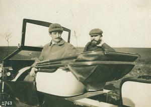 Pioneers Farman & Paulhan in Automobile 1910 Photo