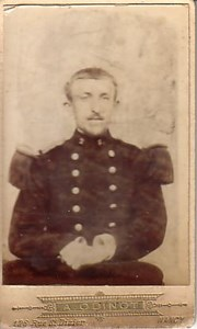 French Anonymous Soldier Uniform old CDV Photo 1890