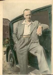 Man smoking cigarette old Photograph 1942