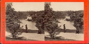 Central Park scene New York old Photo 1870s