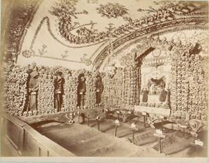 Capuchin Friars Cemetery Church Bones Rome Photo 1870's