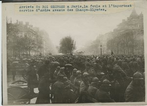 King Georges V Visit to Paris Crowd old Photo 1918