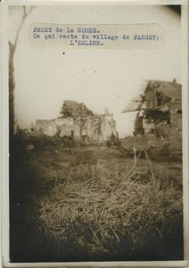 Somme Front Fargny Church Ruins WWI WW1 Photo 1914-1918