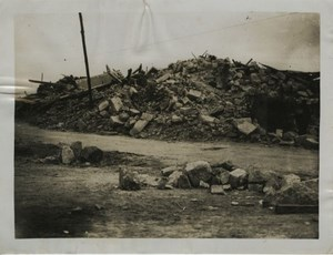 Village Church Ruins WWI WW1 old Photo 1917