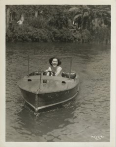 Actress Maureen O'Sullivan in boat old MGM Photo 1932