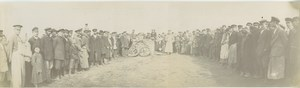 Aeronaut in Balloon basket after landing Old Panoramic Photo 1909
