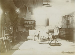 Aeronaut Gilbert Workshop interior Workers Photos 1910