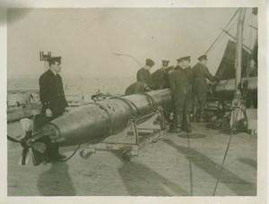 British Navy Warship Torpedo Sea WWI WW1 old Photo