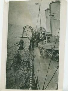 Torpedo Practice British Destroyer Whaler WWI WW1 Photo