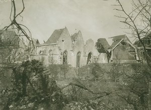 Bapaume Church Ruins Eglise Ruines WWI old Photo