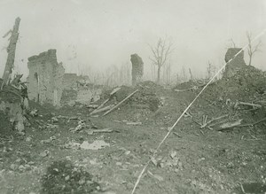 WWI Le Barque Ruins British Western Front old Photo