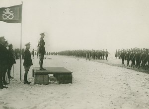WWI Prince of Wales Inspecting Battalion old Photo