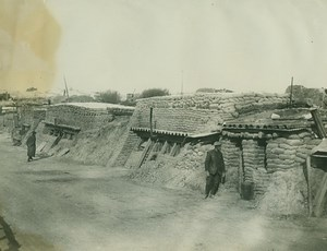 WWI Dugouts on Roadside in France WW1 old Photo