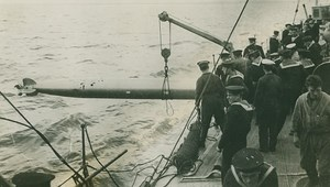 WWI British Torpedo Practice Destroyer old Photo