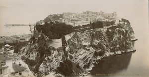 Monaco Le Rocher Palace General View old Photo 1900
