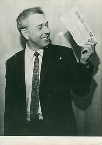 Winning Bet Man on the Moon old Photo July 1969