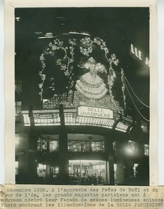 Paris Store Christmas Light Belle Jardiniere Photo 1930