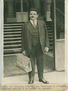 France Edouard Herriot President du Conseil Photo 1932