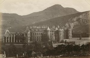 Holyrood Palace & Arthur's Seat Edinburgh Photo 1880