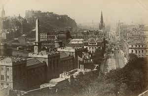Edinburgh Animated General View GWW Albumen Photo 1880