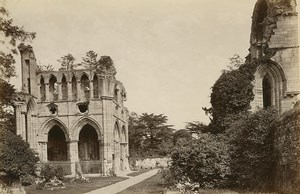 Dryburgh Abbey Scotland old GWW Albumen Photo 1880