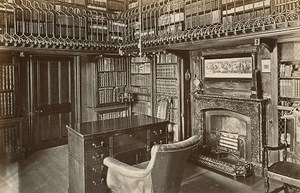 Abbotsford House Sir Walter Scott Study GWW Photo 1880