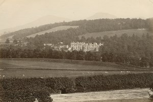 Abbotsford House Eildon Hills old GW Wilson Photo 1880