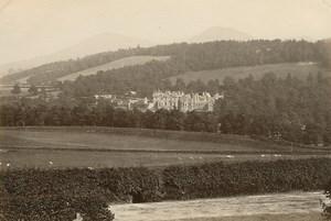 Abbotsford House Eildon Hills old GW Wilson Photo 1880