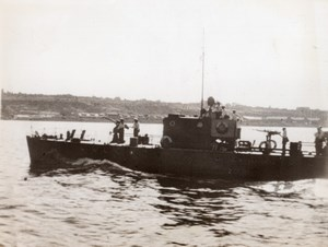 WWII Russian Patrol Boat Danube River WW2 Photo 1941