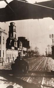 WWII German Army Deserted Street Russia WW2 Photo 1941