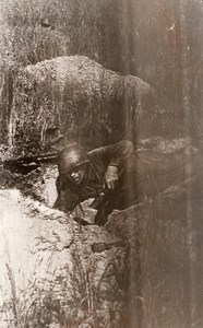 WWII Russian Front Soviet Soldier Trench WW2 Photo 1941