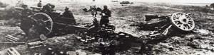 WWII German Guns Crushed By Soviet Army WW2 Panorama Photo 1941