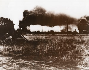 WWII German Machine Gunners Russia WW2 old Photo 1941